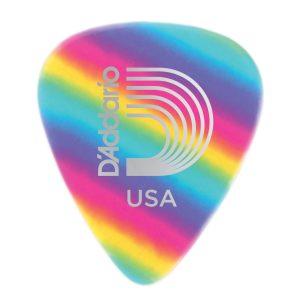 D'Addario Rainbow Celluloid Guitar Pick, Light