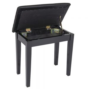 Kinsman Piano Bench with Storage ~ Satin Black