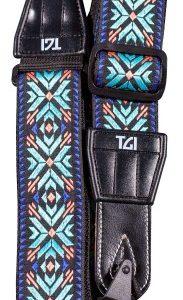 TGI Strap Woven Cotton Maltese Cross Stitch – Turquoise
