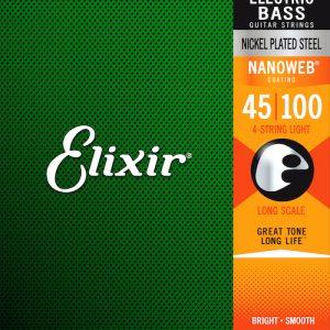 Elixir – Bass Nanoweb 4 String Long Scale Lt ( 45-100 )