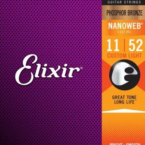 Elixir – Acoustic Nanoweb 92/8 Phosphor Bronze Custom Light ( 11-52 )
