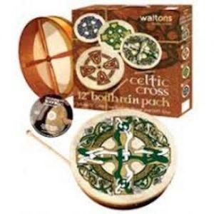 Waltons 15″ Celtic Design Bodhran Pack
