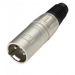 XLR Plug male silver