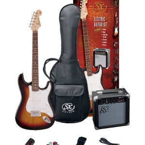 SX SE1 Strat Style Guitar Pack | 3 Tone Sunburst